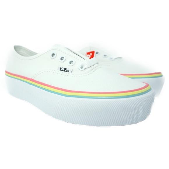 Vans Shoes   Authentic Platform Rainbow